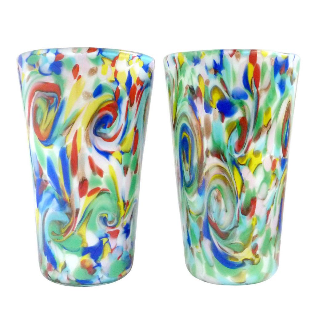 Fratelli Toso Murano Glass Tumblers
