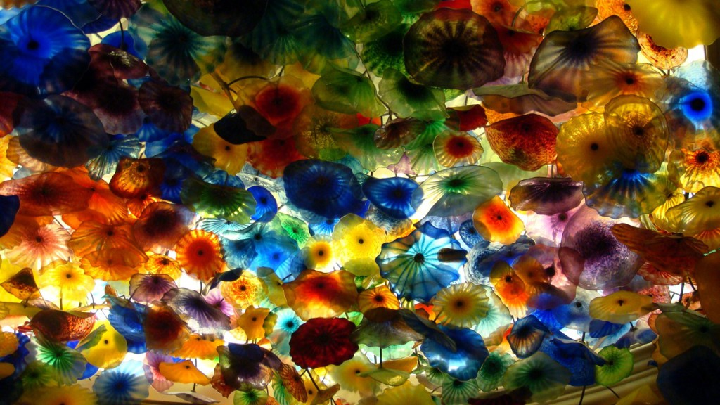 Chihuly Glass Flowers Ceiling