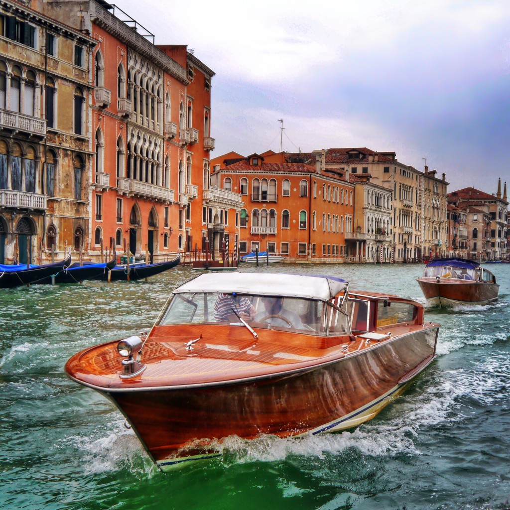 Venice Boat on Grand Canal