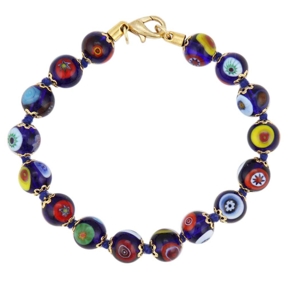 Murano Mosaic Bracelet Navy Blue