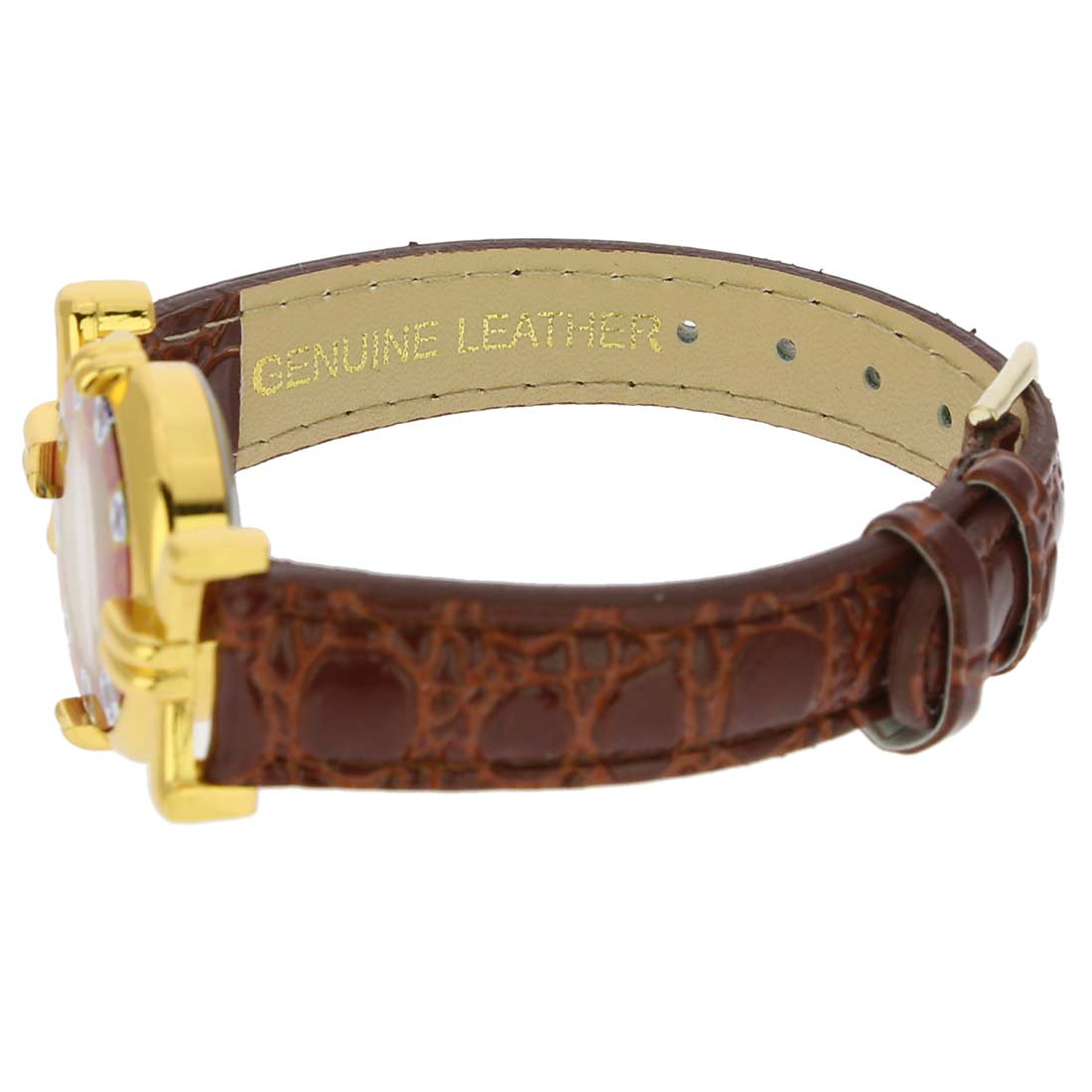 Murano Watches Murano Millefiori Watch With Leather Band