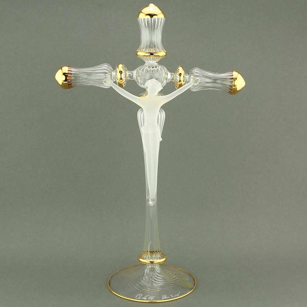 Murano Glass Crucifix