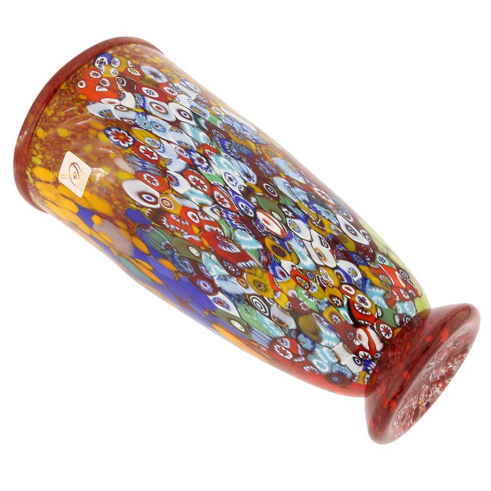 Murano Glass Vases Murano Millefiori Art Glass Vase