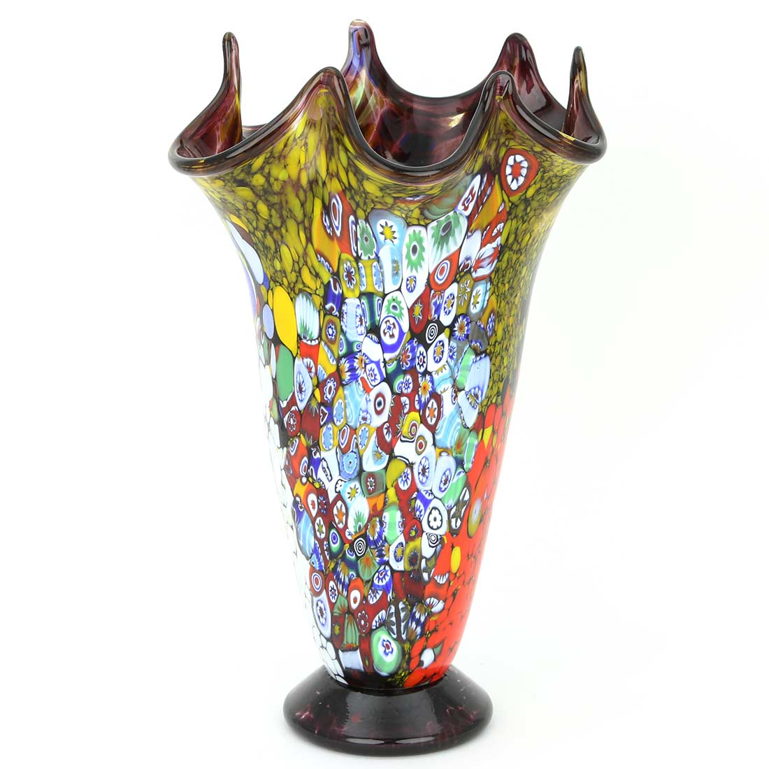 Murano Art Glass Millefiori Vase