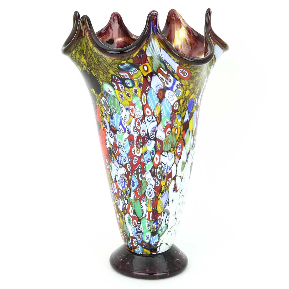 Murano Glass Vases Murano Millefiori Art Glass