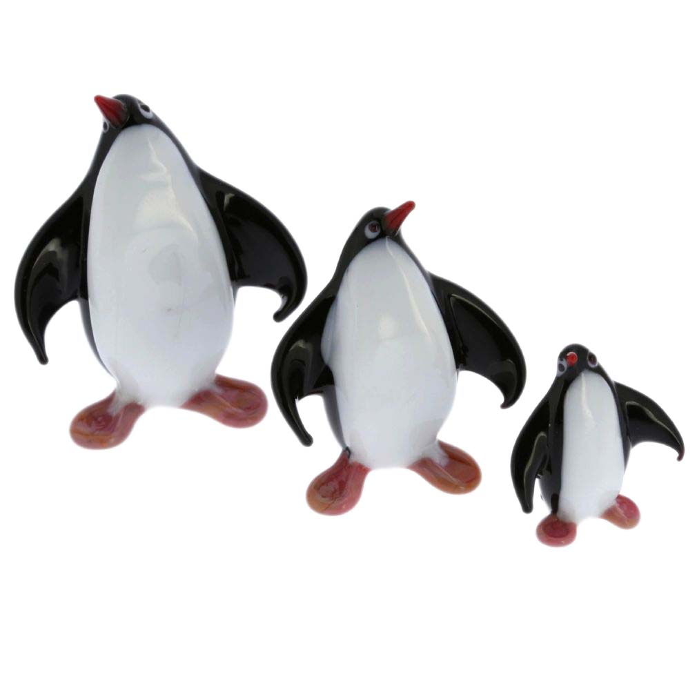 Murano Glass Penguin Family