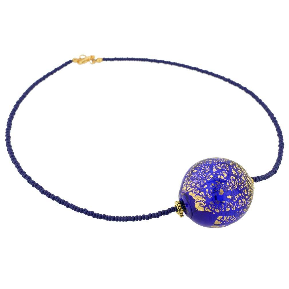 Murano Necklaces Serenella Murano Necklace Navy Blue
