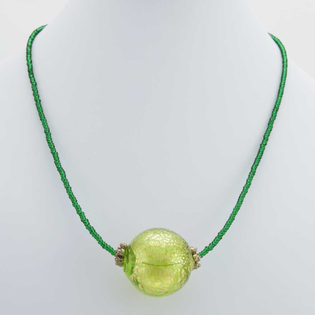 Serenella Murano Necklace - Lime Green