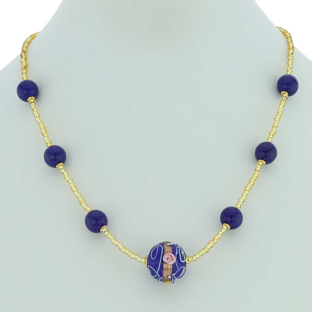 Rialto Necklace - Cobalt Blue