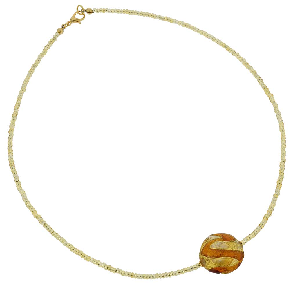 Royal Cognac Circle necklace