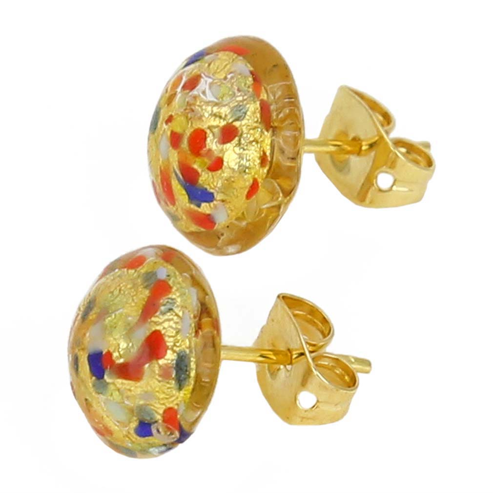 Murano Earrings Murano Button Stud Earrings Multicolor