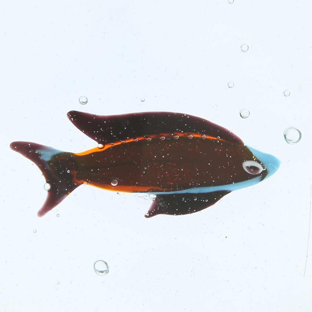 Murano glass aquarium with fish for Murano glass fish