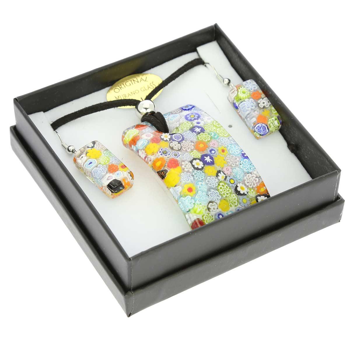 Murano Jewelry Sets Murano Glass Millefiori Jewelry Set
