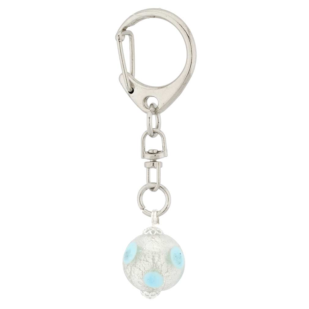 Golden Yellow Mosaic Cable Keychain