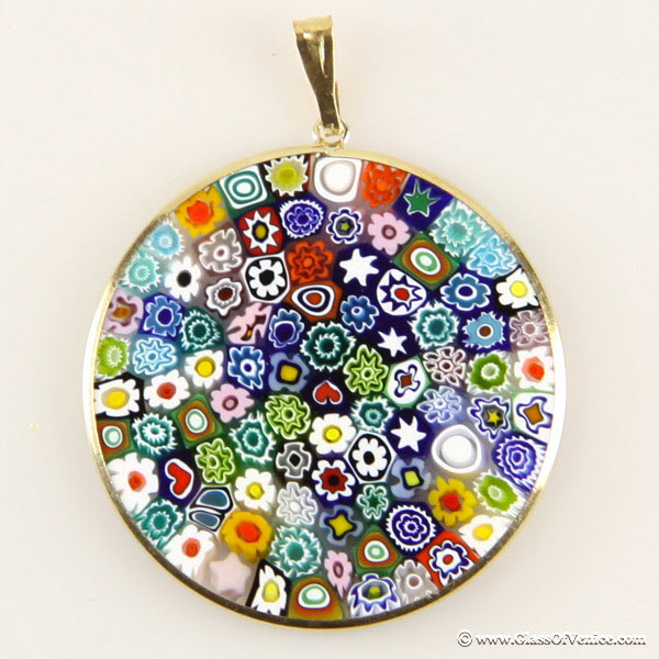 The story of millefiori thousand years of glass flowers murano millefiori pendant mozeypictures Choice Image