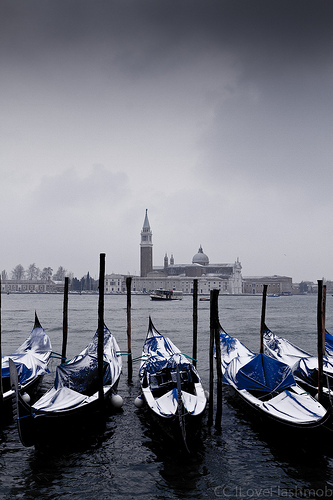 Winter weather in Venice Italy