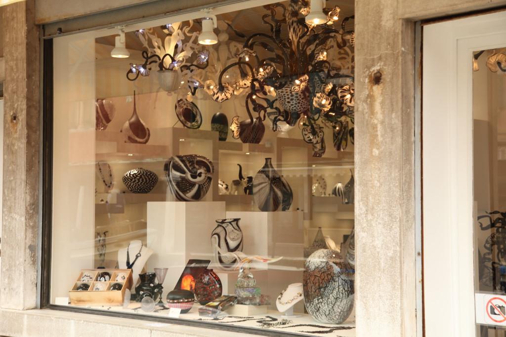 Murano Glass Store Window on Murano Island
