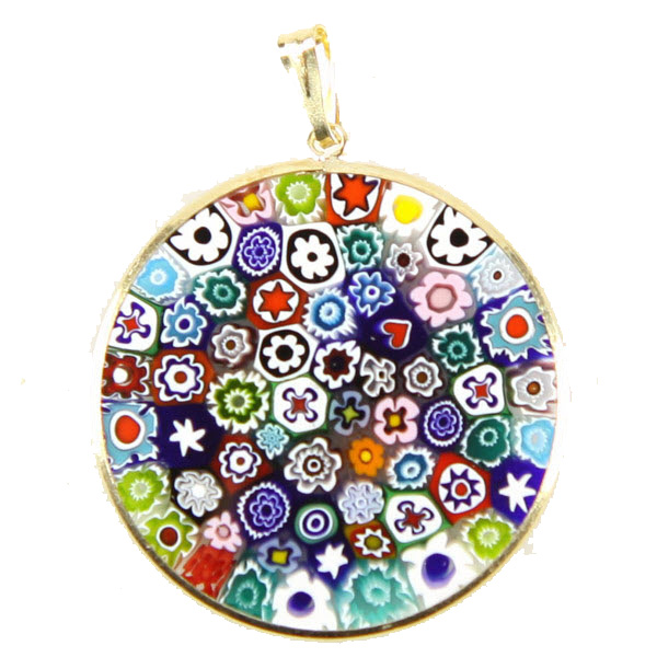 Murano Glass Millefiori Pendant from GlassOfVenice