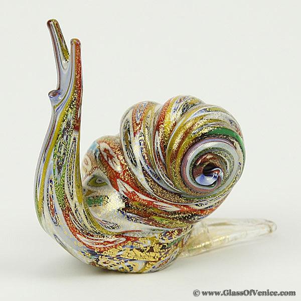Murano Millefiori Snail