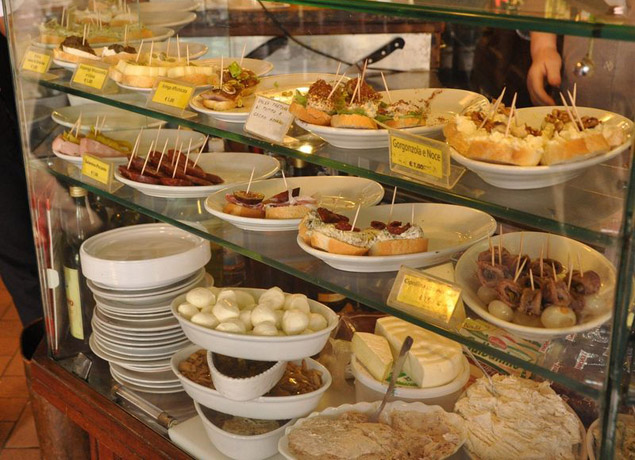 Yummy food in Italy