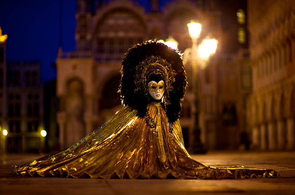 vanice carnival Lion Mask on Piazza San Marco