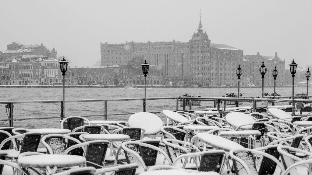 Venice Winter Giudecca View Snow