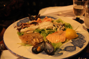 Seafood Appetizer in A Venetian Restaurant