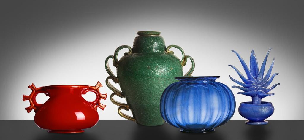 Murano Glass Vases by Napoleone Martinuzzi