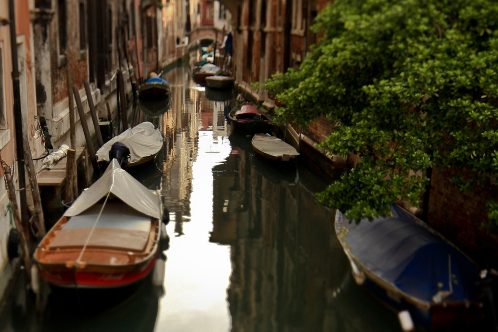 Boats on a Venetian canal