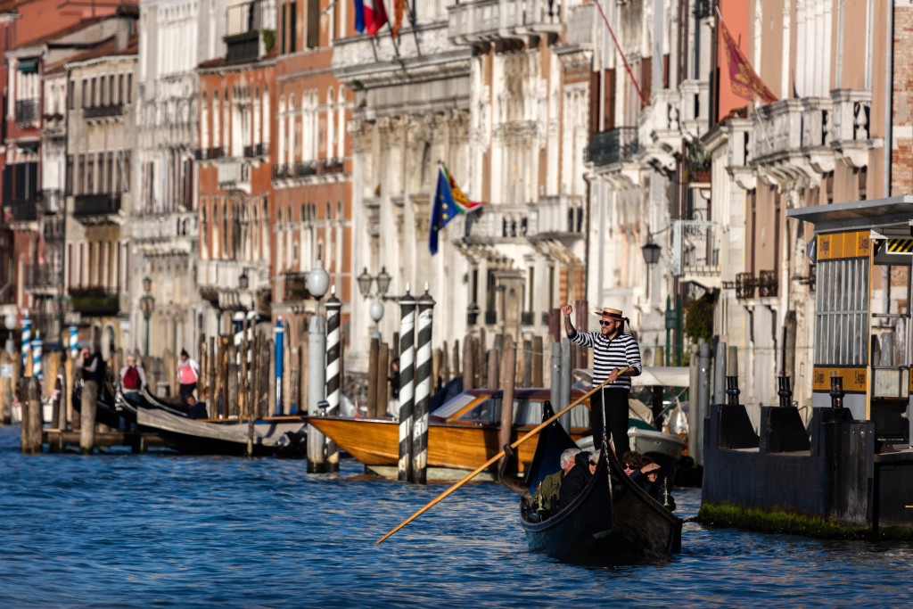 Venice Boat TYraffic on Grand Canal