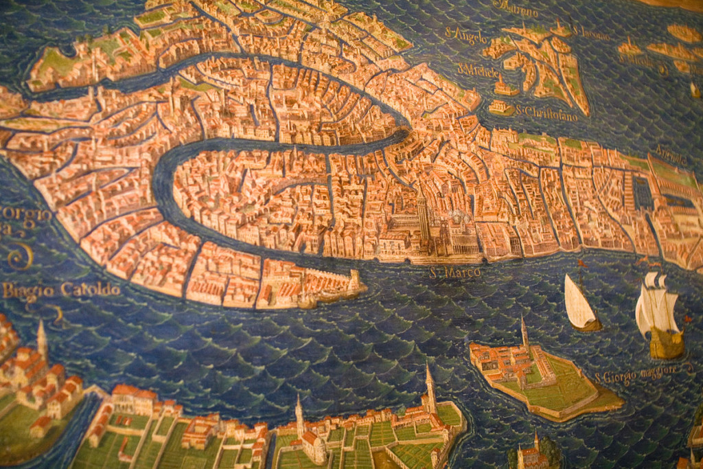 Venice Old Map Of The City