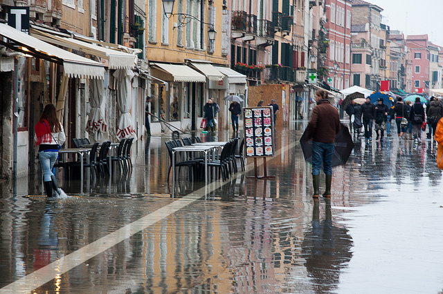 Dealing with flooding in Venice
