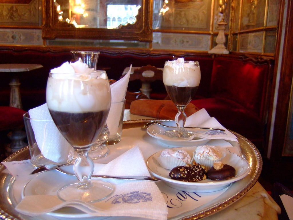 Coffee in Cafe Florian in Venice is not the most expensive in the world