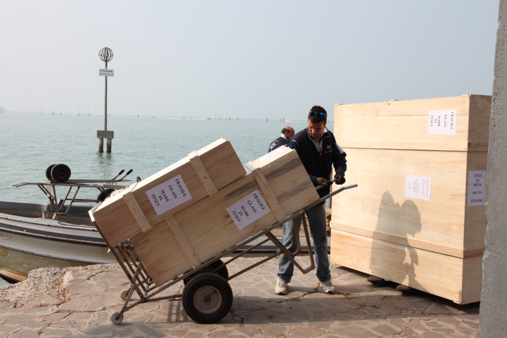 How Murano Glass is shipped from Venice