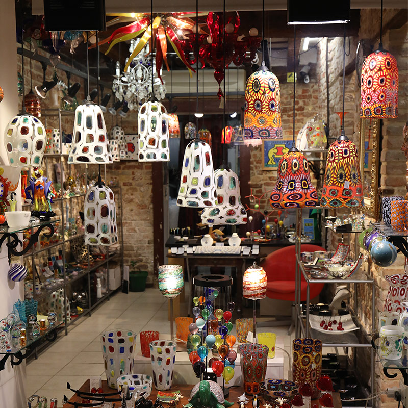 Murano Glass store in Venice Italy