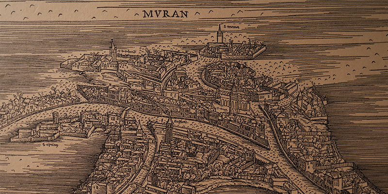 Murano Island Old Map Murano Glass History