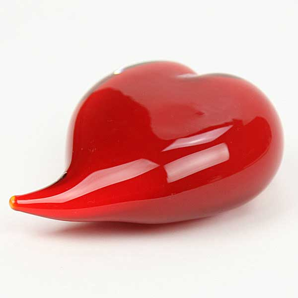 Murano Glass Heart Sculpture