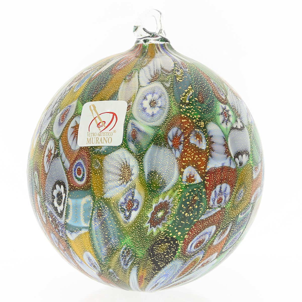 "Pottery & Glass Colorful Fused Art Glass Christmas Ornaments Dessert Plate 9"" New Holiday"