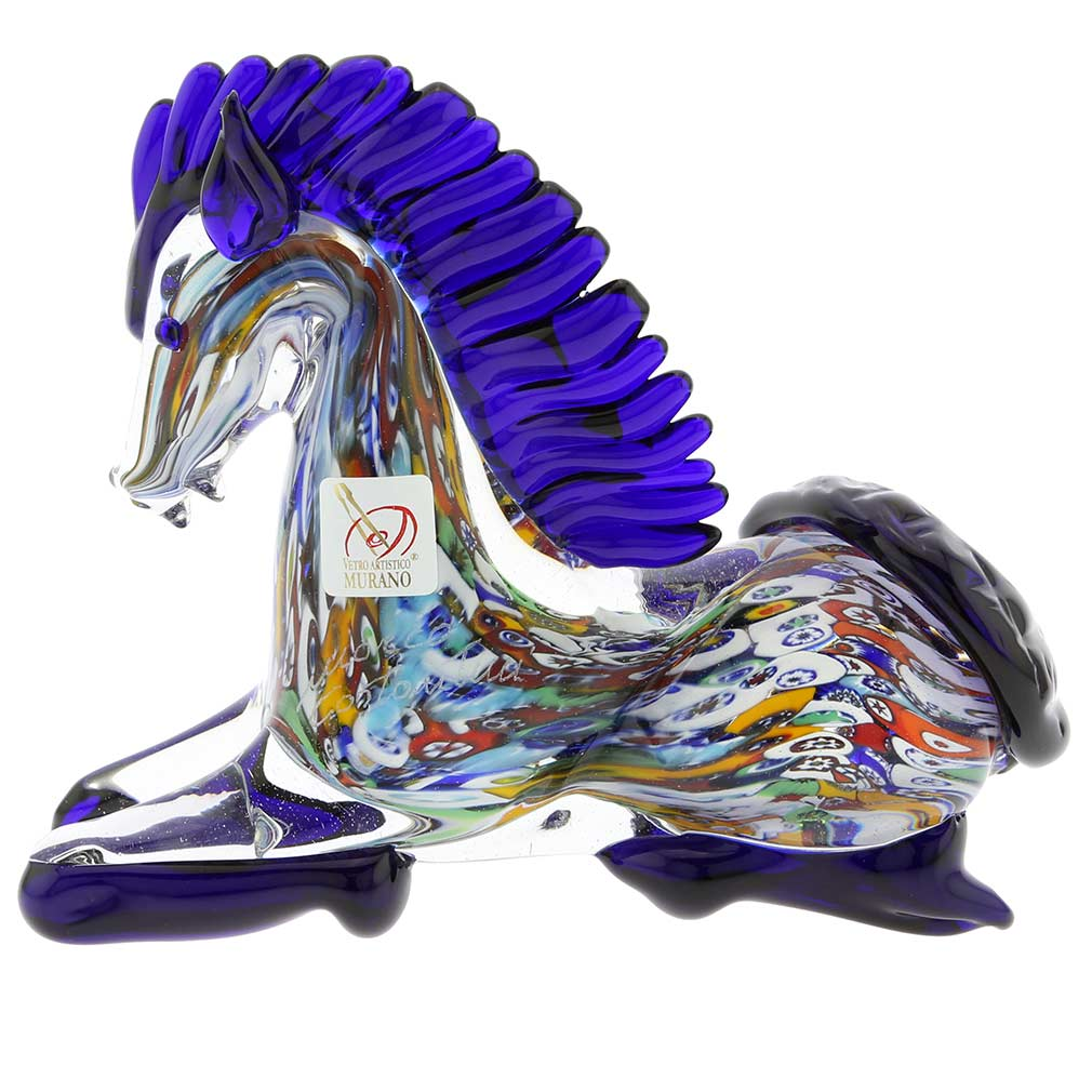 Murano Glass Kneeling Horse