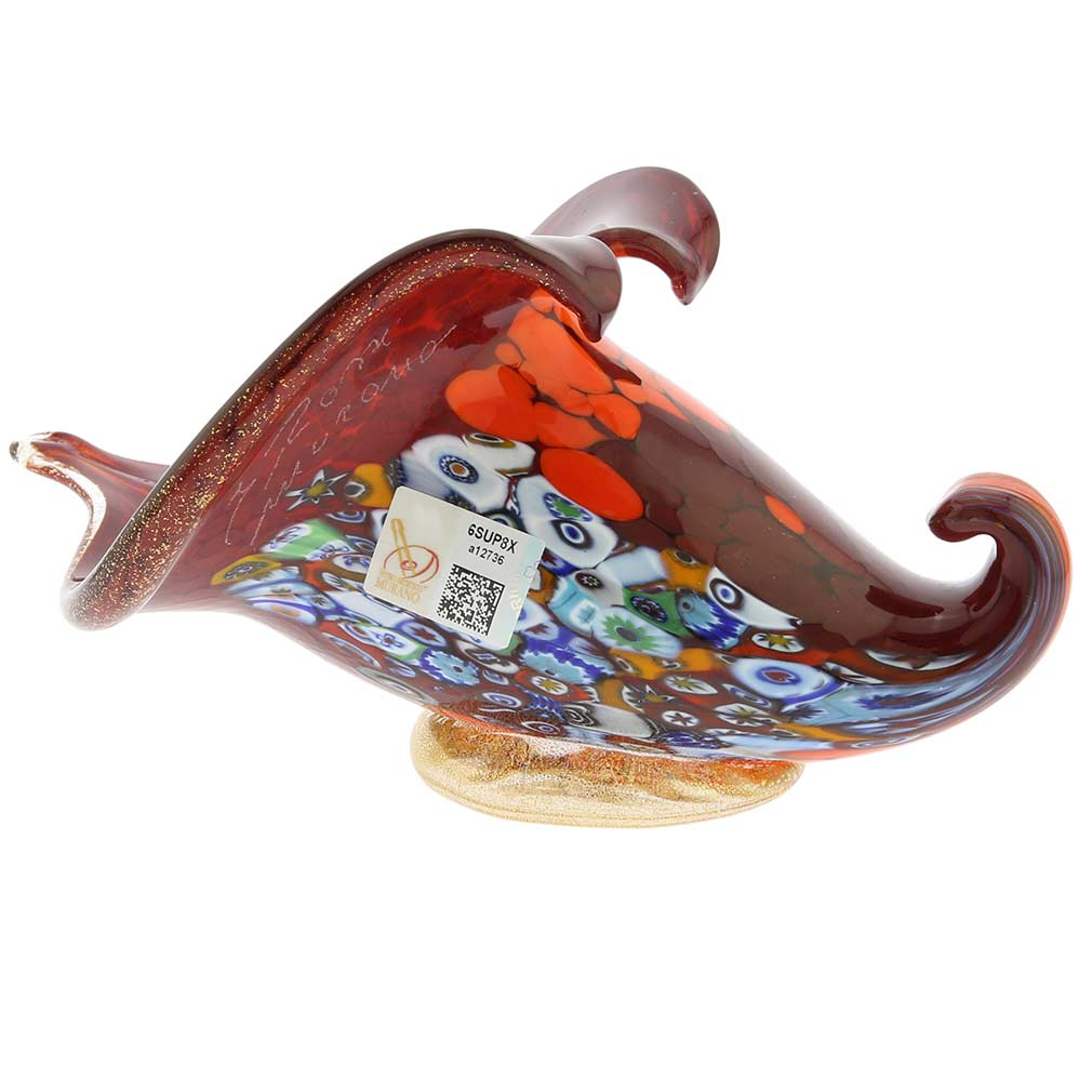Murano Glass Italian Horn of Plenty