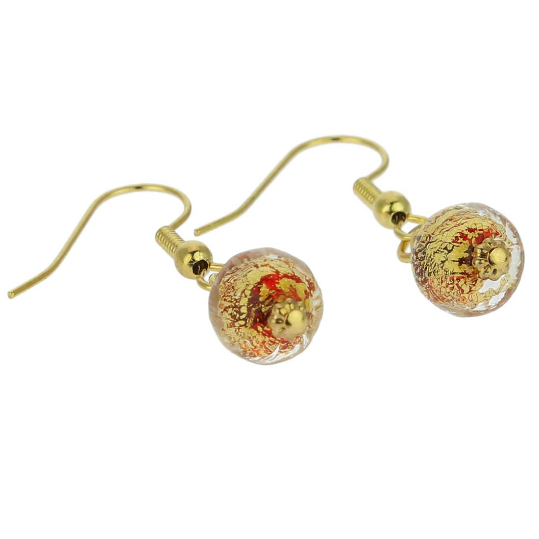 Golden Glow Earrings - Red