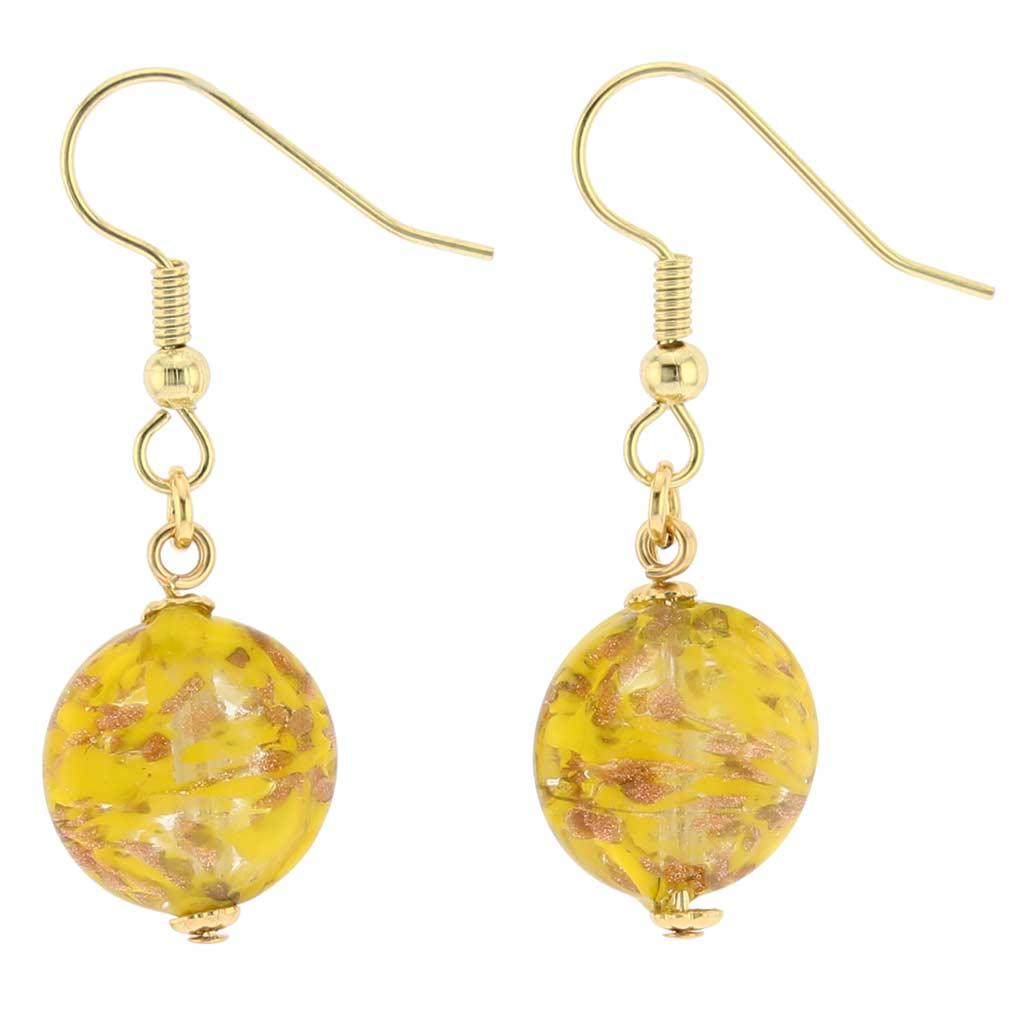 Starlight Disc earrings -mustard yellow