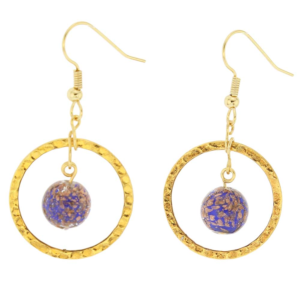 Sommerso Venetian Circle earrings -blue