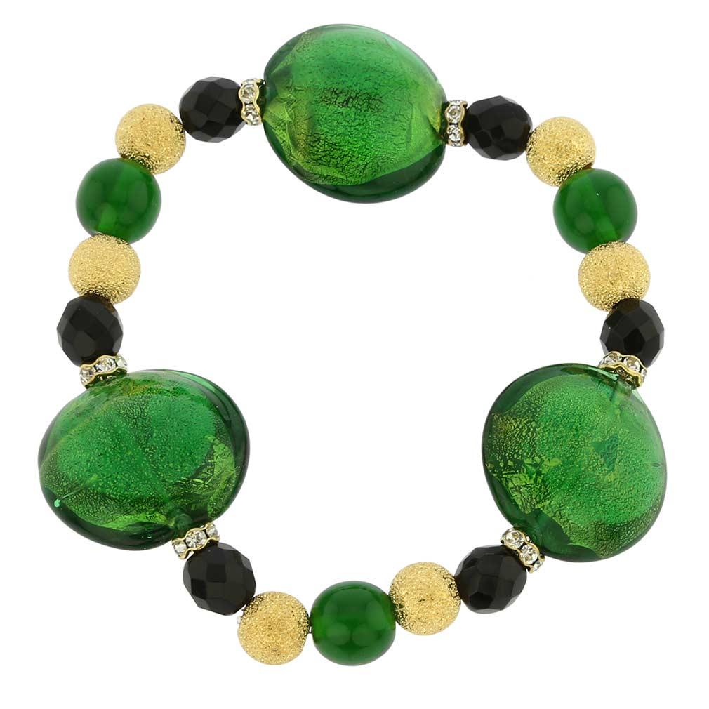 Murano Magic bracelet -sparkling black